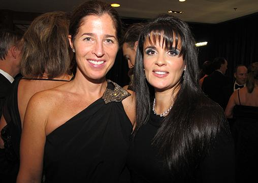 BC Children's Hospital Foundation board member Lisa Hudson (l), with Crystal Ball auction co-chair Tali'ah Aquilini.
