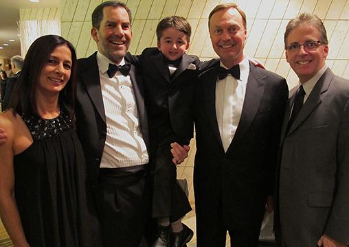 From left: Kim Wright; Colin Joudrie, VP business development at Teck; Casey Wright; Don Lindsay, CEO of Teck and chair of BC Children's Hospital Foundation capital campaign; and Larry Wright.