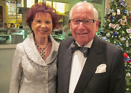 Retail and real estate legend and philanthropist Joe Segal (l), with wife Rosalie.
