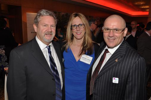 Constant Contact Western Canada rep Guy Steeves; ContainerWorld logistics manager Kristina Sonney; and president of Pacific Business Brokers and chair of Small Business B.C., Pino Bacinello.