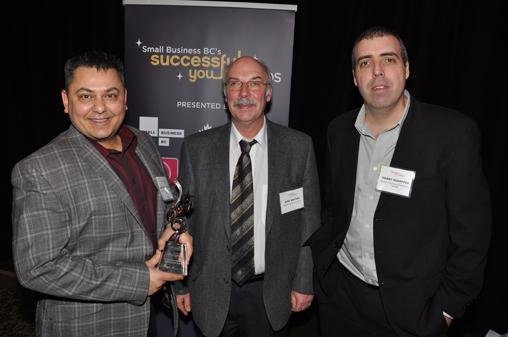 Best Concept award winners from Western Industrial Solutions, Christopher Mitra, Mike Waithe and Grant Schaffer, who developed TaskSafe, an innovative solution to manage, record and enforce work place safety.