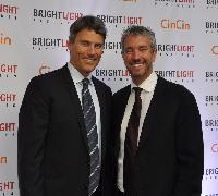 Vancouver Mayor Gregor Robertson; and Shawn Williamson, Brightlight Pictures chair.