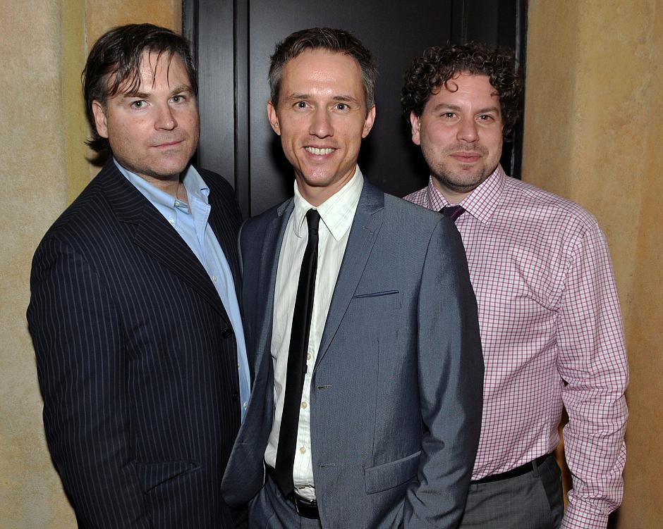 Paul Armstrong, producer of <em>Lawrence & Holloman</em>; Daniel Arnold, actor; and Matthew Kowalchuk, director of the film.