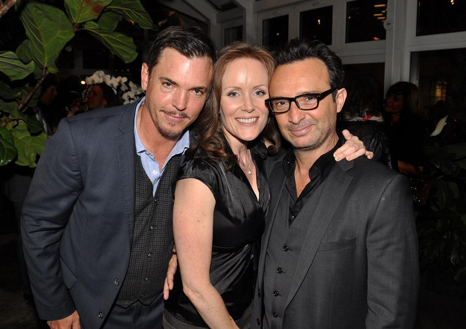 Nicholas Lea, actor; Jennifer MacLean-Angus, actress; and festival actor John Cassini.