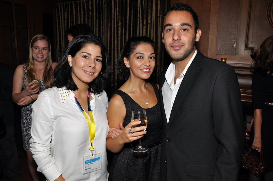 From <em>For the Birds</em>, Tara Atashgah, director; Nazlik Lou, actress; and Chervine Namani, actor.