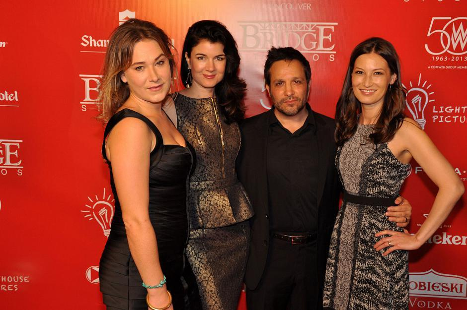The cast and crew from festival movie <em>Down River</em>: Colleen Rennison, actress; Gabrielle Miller, actress; Ben Ratner, writer/director; and Jennifer Spence, actress.
