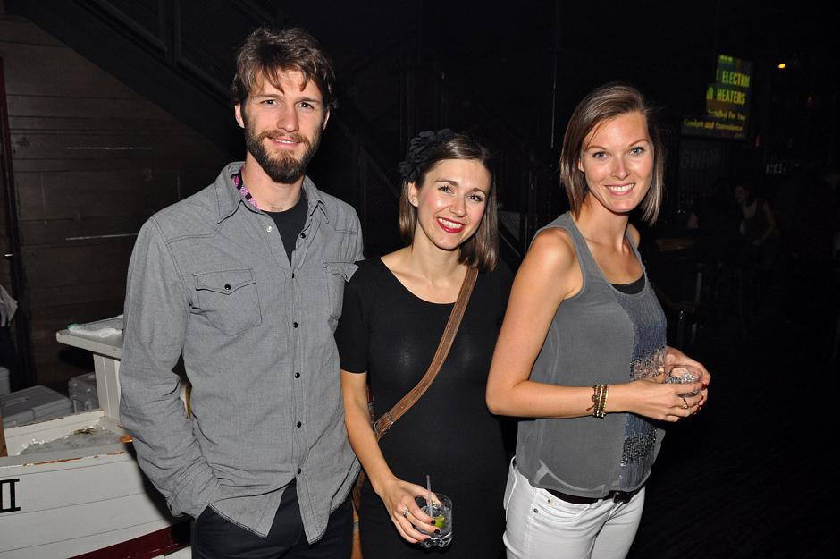 Alex Kennedy, VIFF volunteer; Maya Beckersmith, <em>Georgia Straight</em> newspaper sales and promotions; and Julie Boswell, occupational therapist.