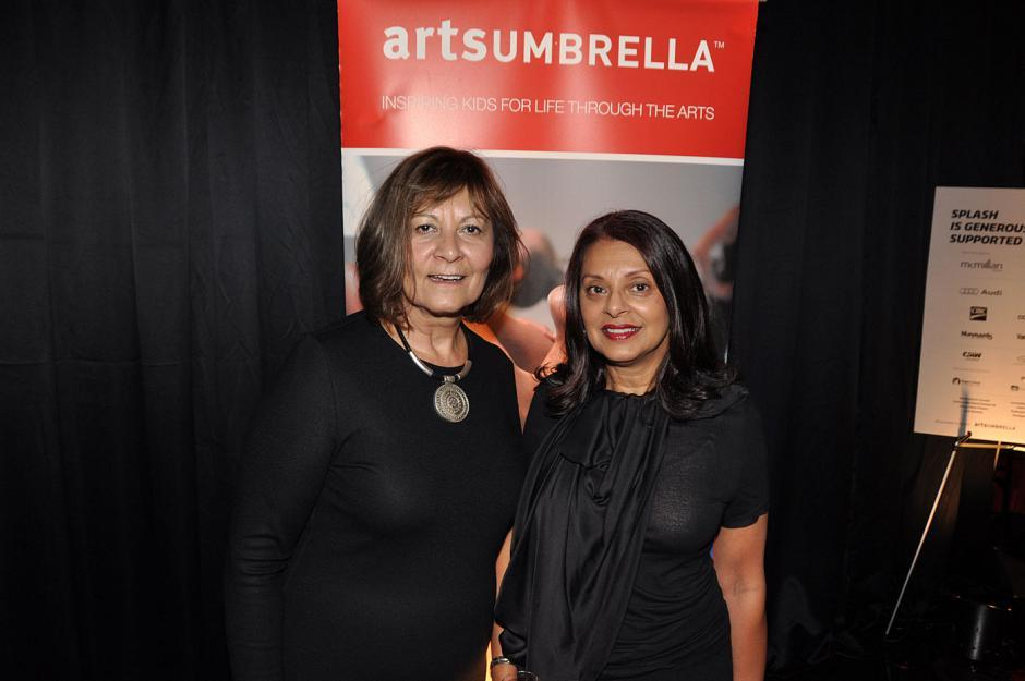 Lucille Pacey, Arts Umbrella president and CEO; and Nina Cassils, Arts Umbrella board member.
