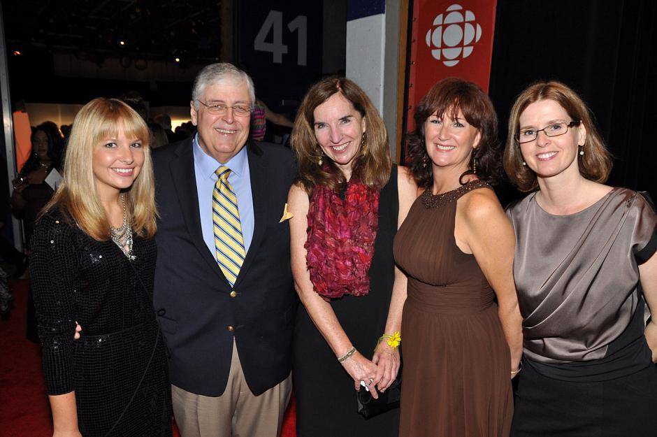 Johanna Wagstaffe, CBC meteorologist; Rick Cluff, CBC Early Edition host; Anne Penman, CBC BC Almanac producer; Cathy Hunt, CBC revenue manager; and Caroline Ewald, CBC communications.