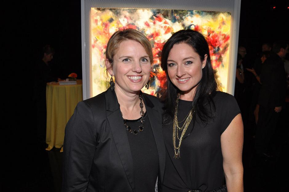 Kate Marshall, <em>Continuum</em> TV series set decorator; and Nicole Harvie, <em>Hello</em> magazine correspondent.