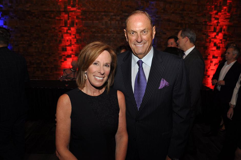 Sandi Treliving and Jim Treliving, <em>Dragons' Den</em> personality and Boston Pizza founder.