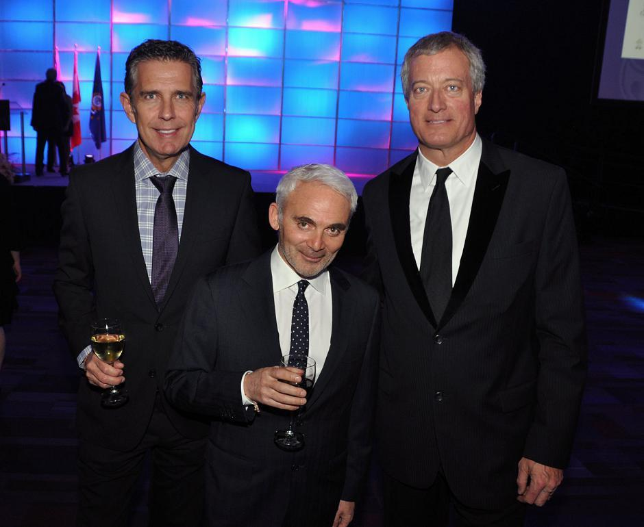Frank Anderson, venture capitalist; Frank Giustra, Fiore Financial Corp. CEO and The Radcliffe Foundation president; and Bob Cross, Bankers Petroleum chair.
