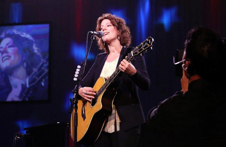 Grammy award-winning musician Sarah McLachlan performs for the guests.