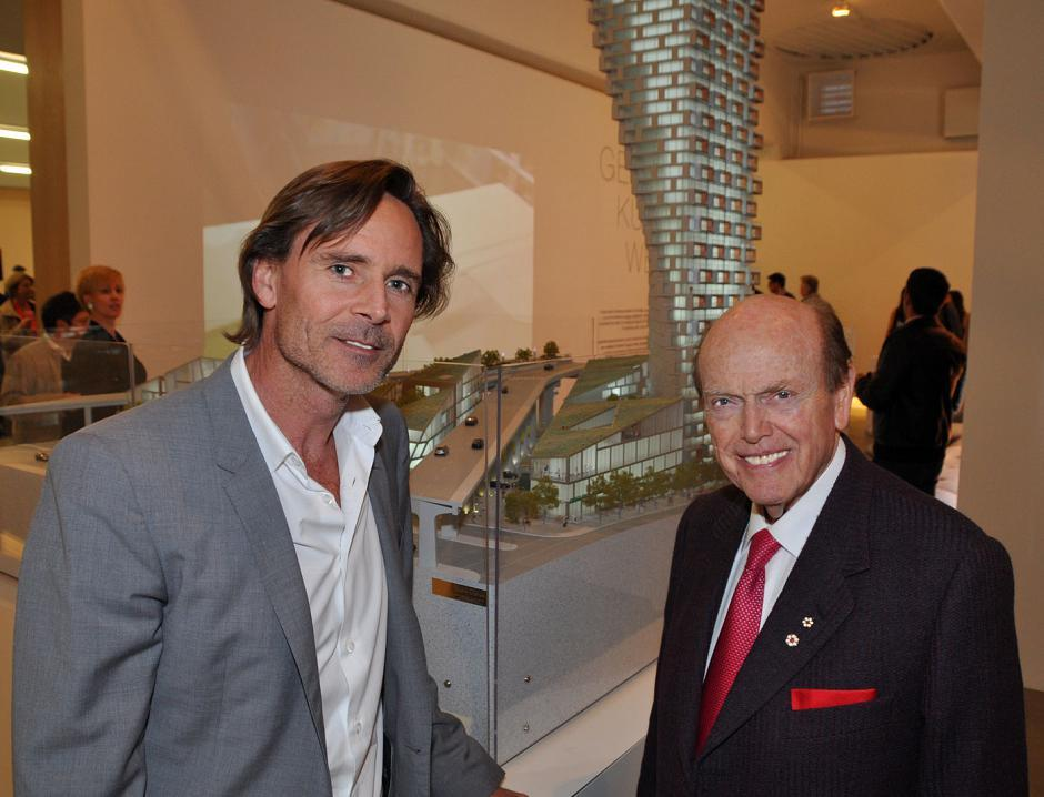 Ian Gillespie, Westbank Projects president; and Jim Pattison, Jim Pattison Group president and CEO.