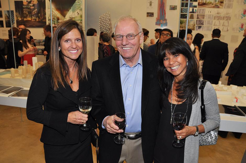 Sue Dupuis; Floyd Hill, Odlum Brown director; and Carlota Lee, Prospero International Realty broker.