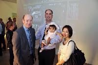 Norman Huth, Henriquez Partners Architects director of interior architecture; Manuel Bernaschek, Showcase Pianos president; and his wife Judy, and baby, Aria.