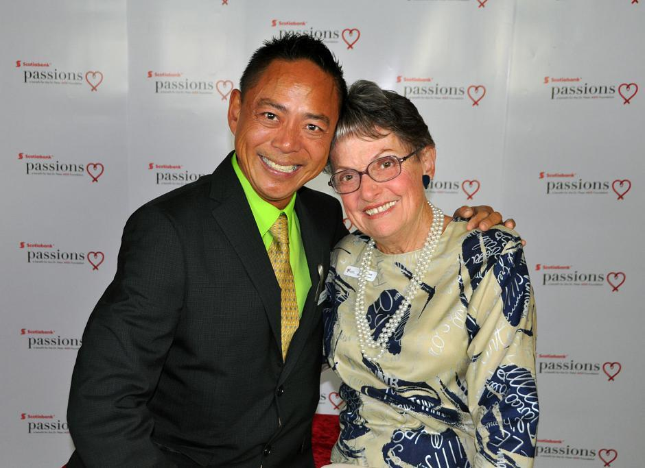Nathan Fong, Passions chair and founder; and Shirley Young, Dr. Peter's mother.