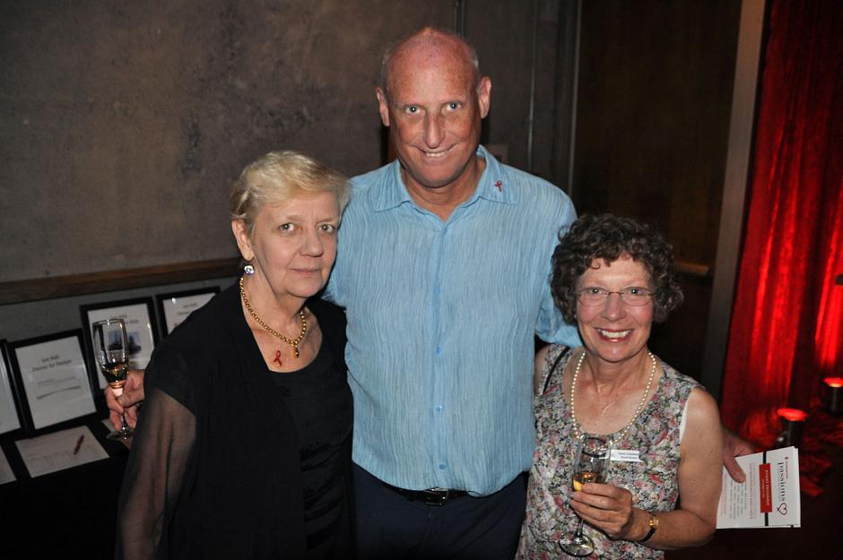Maureen Bruce, volunteer; Bruce Thompson, retired; and Irene Goldstone, Dr. Peter Centre board of directors.