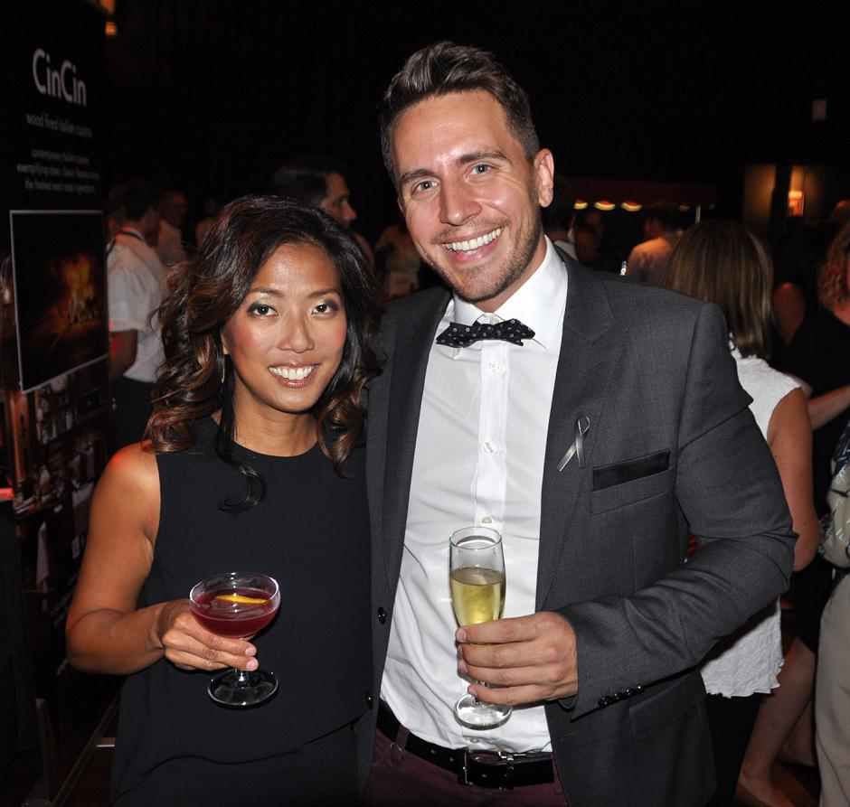 Event emcees Sophie Lui, Global TV; and Jonny Staub, The Beat 94.5 FM.