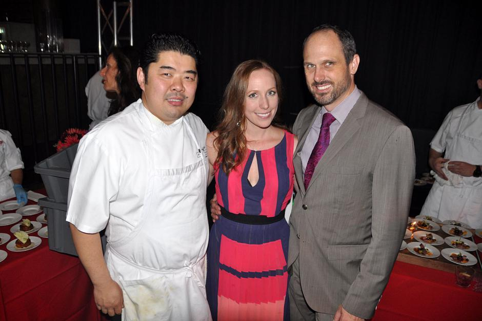 Alex Chen, Boulevard Kitchen & Oyster Bar executive chef; Shelley McArthur, Shelley McArthur Communications principal; and Steve Edwards, Boulevard Kitchen & Oyster Bar director of operations.