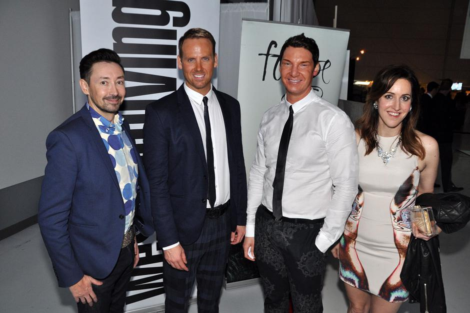 Rob Jungman, Sheer Excellence stylist; Curtis Elmy and Trevor Ciona, Atmosphere Interior Design co-founders and Robert Ledingham memorial award winners; and Tina Bariscale.