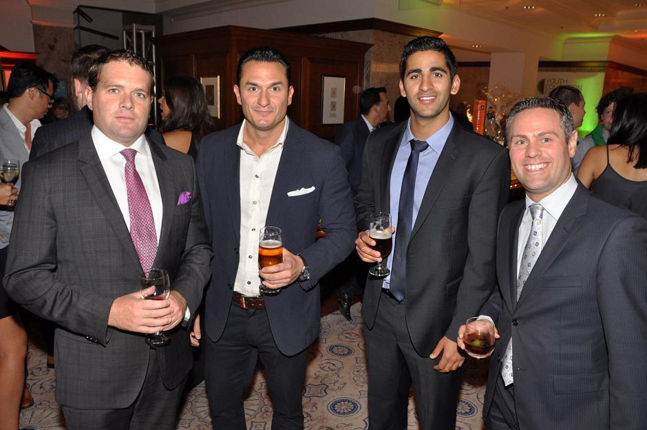 Kyle Stevenson, High North Resources director; Ivano Veschini, Haywood Securities investment advisor; Aarun Kumar, PI Financial investment advisor; and Branden Haynes, NOBO Communications owner.