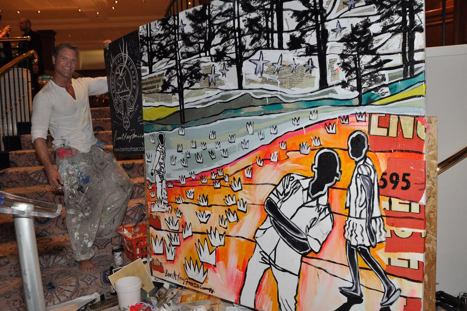 Work painted by artist Brent Ray Fraser during the event and auctioned off for $3,200 at the end of the evening.