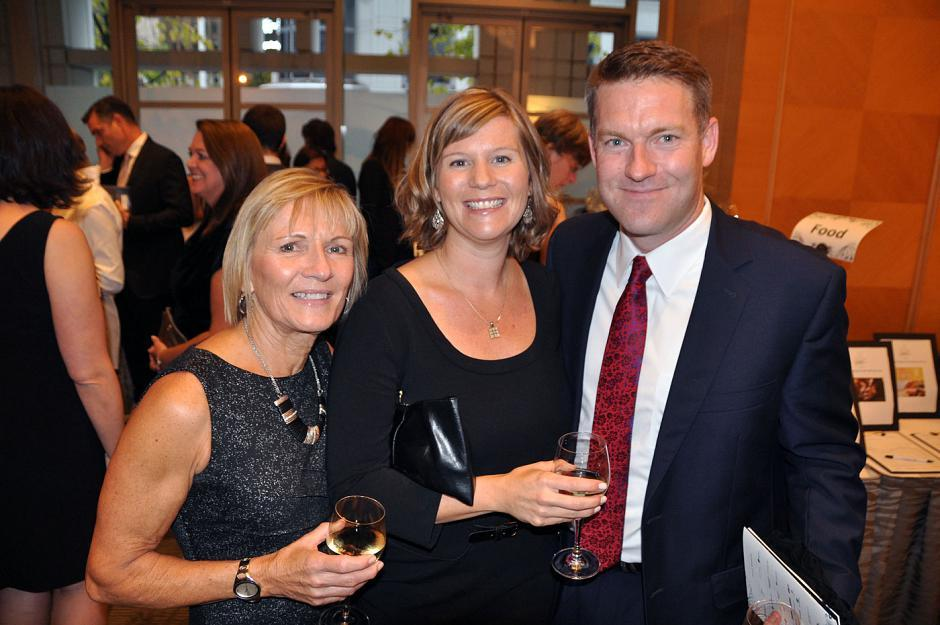 Ann-Marie Molgat; Danielle Veldhuis, Big Sisters board member and Foundations Counselling owner; and Niels Veldhuis, Fraser Institute president.