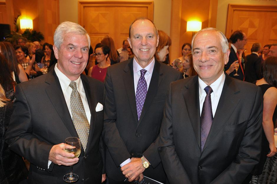Doug Rae, retired; Bob Stanlake, AMEC president of mining and metals; and David Mindell, Western Corporate Enterprises Inc. president.