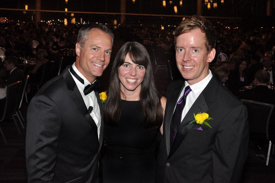 Chris Gailus, Global BC News Hour anchor and gala emcee; Samantha Legge, Canada Wide Media president; and Matt O'Grady, BCBusiness editor-in-chief.