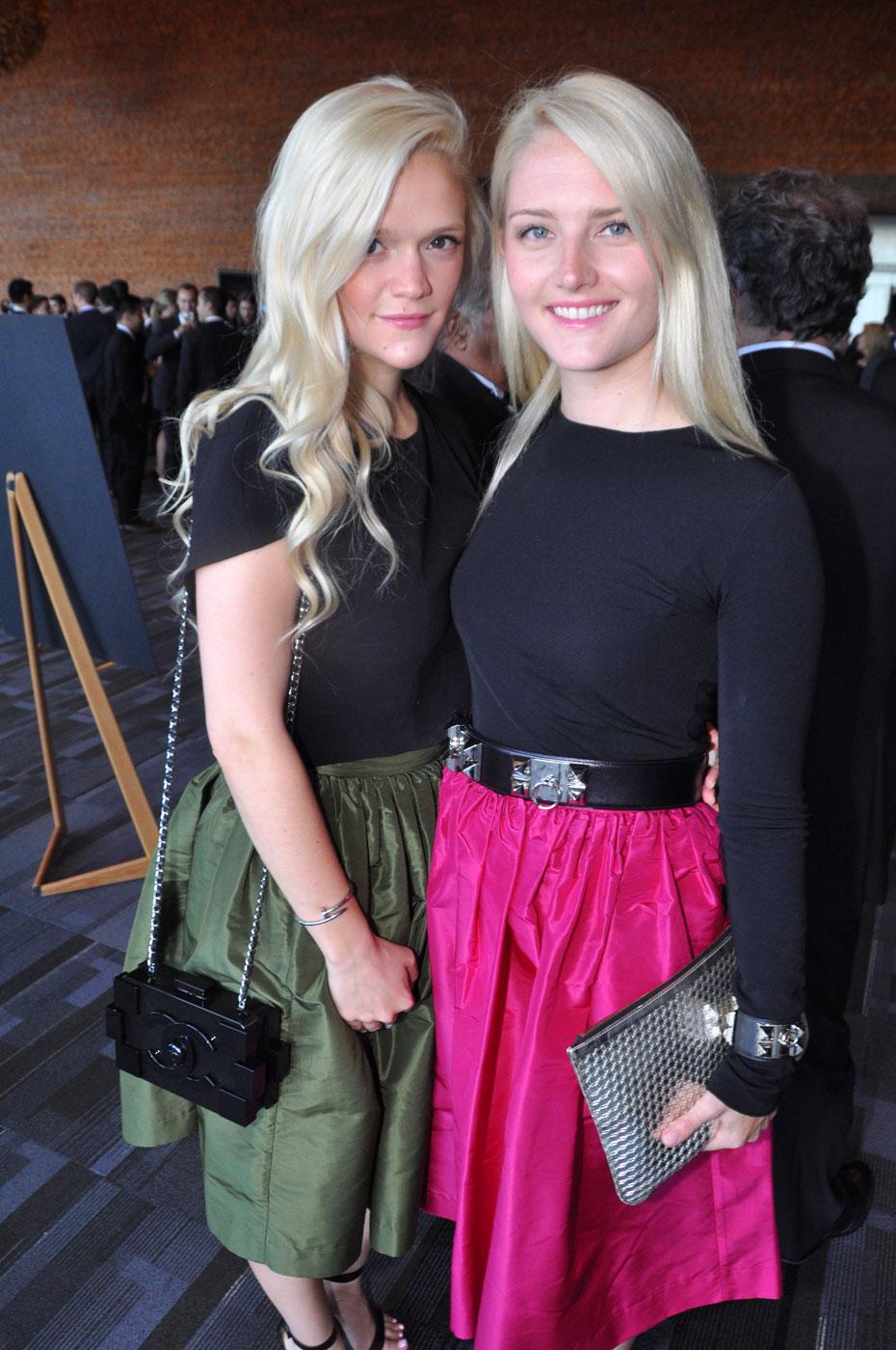 Skot Apparel Partyskirts co-founders Mariel Armstrong and Lauren Armstrong.