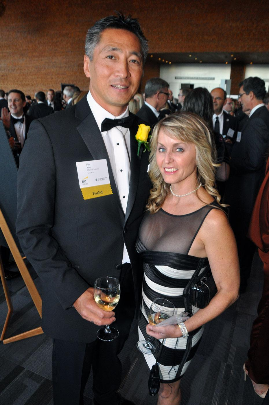 Information technology award winner Ho Kim, CAMACC Systems Inc. president & CEO; and his wife, Shelley Clarke.