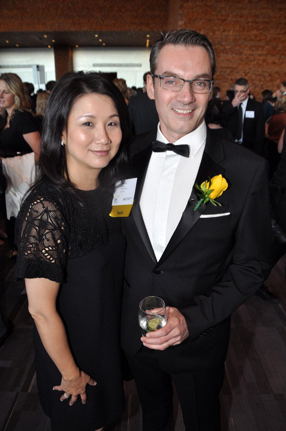 Linda Point; and her husband, finalist Franck Point, Faubourg Paris owner.