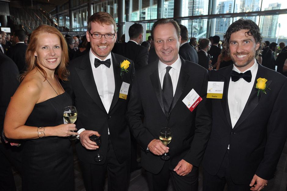 Nicola Lambrechts, National Public Relations VP; Sacha McLean, The McLean Group vice-chair; Richard Jaffray, Cactus Restaurants founder & president; and Jason MacLean, The McLean Group CEO.