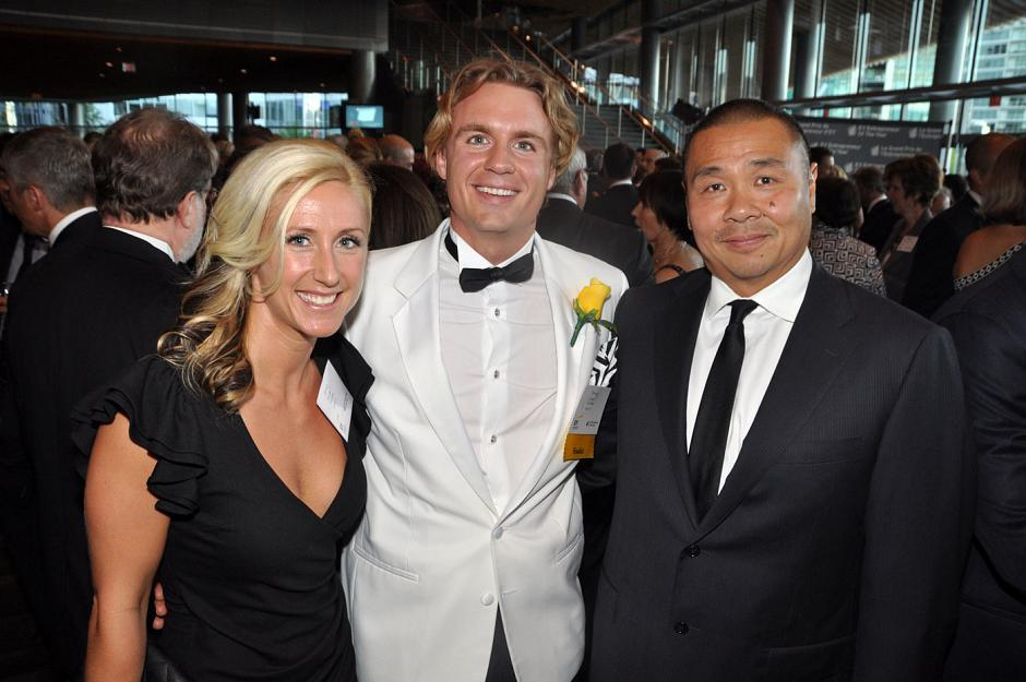 Jenna Bayuk, ZAG Global executive assistant; Steve Curtis, ZAG Global CEO; and Joe Lee, ZAG Global CFO.