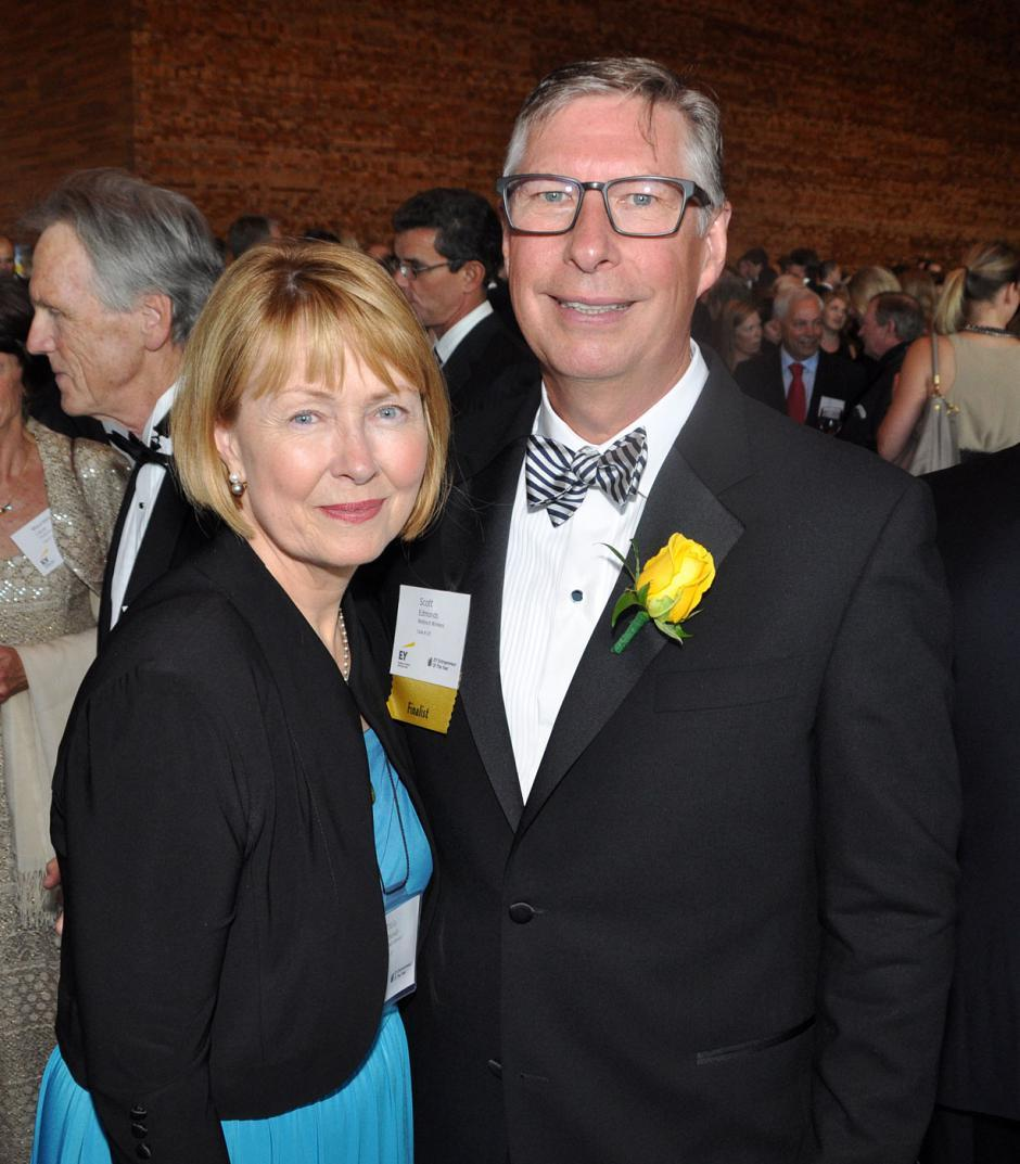 Tricia Edmonds; and her husband Scott Edmonds, Webtech Wireless president & CEO.