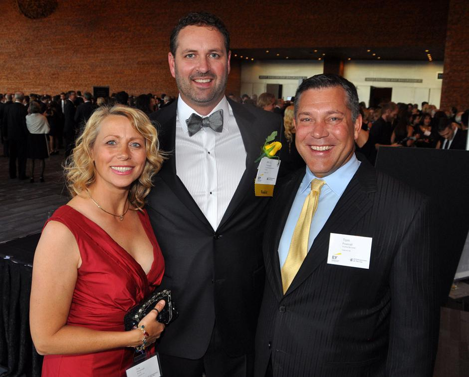 Iva Pownall, Blush Bridal managing partner; Mitch Trotman, Trotman Automotive Group director; and Tom Pownall, Scotiabank director wealth management.