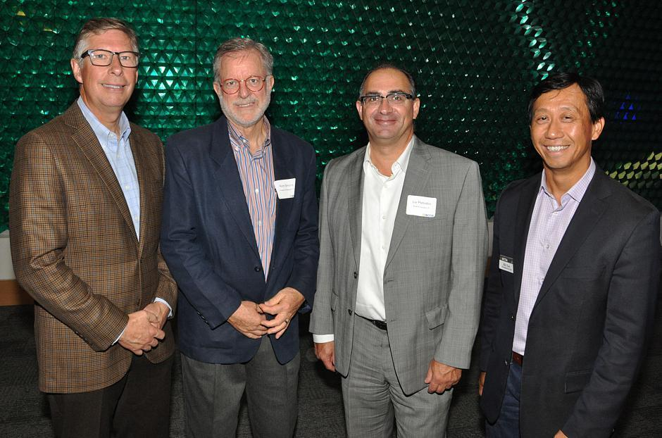 Scott Edmonds, Apivio Systems board member; Rich Simons, Proactive Strategies Inc. CEO; Lui Petrollini, Ernst & Young LLP partner; and Bill Tam, BCTIA president & CEO.
