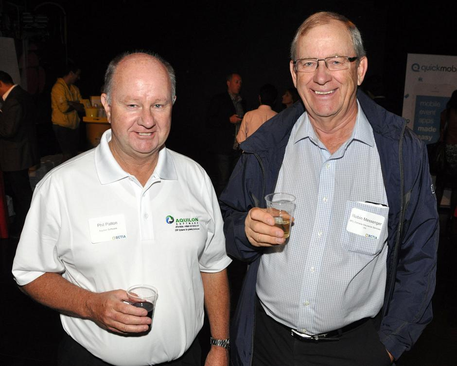Phil Patton, Aquilon Software president; and Robin Messenger, BFL Canada VP.