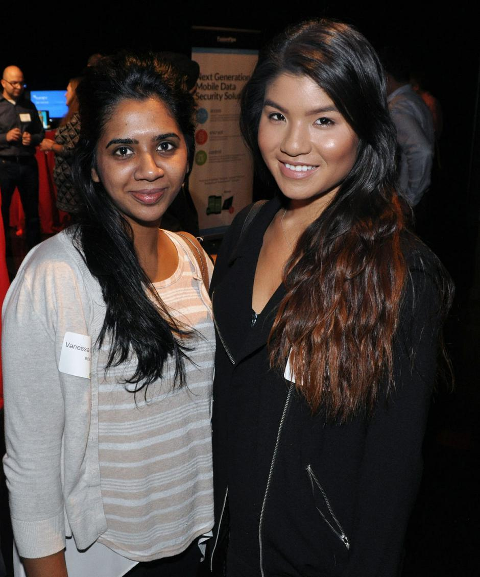 Vanessa Moodley, BC Innovation Council programs specialist; and Sarah Ngo, BCIC marketing & communications co-ordinator.