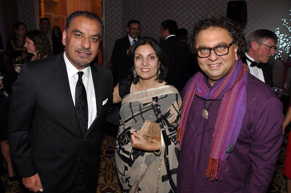 Jonathan Gill and Bina Gill, Odyssey International Exports owners and auction sponsors; and Vikram Vij, restaurateur and Dragons' Den co-host.