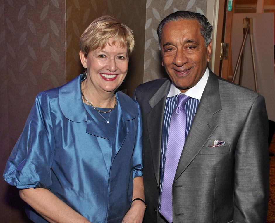 Suzanne Anton, Minister of Justice and Attorney General of B.C.; and Wally Oppal, Thompson Rivers University chancellor.