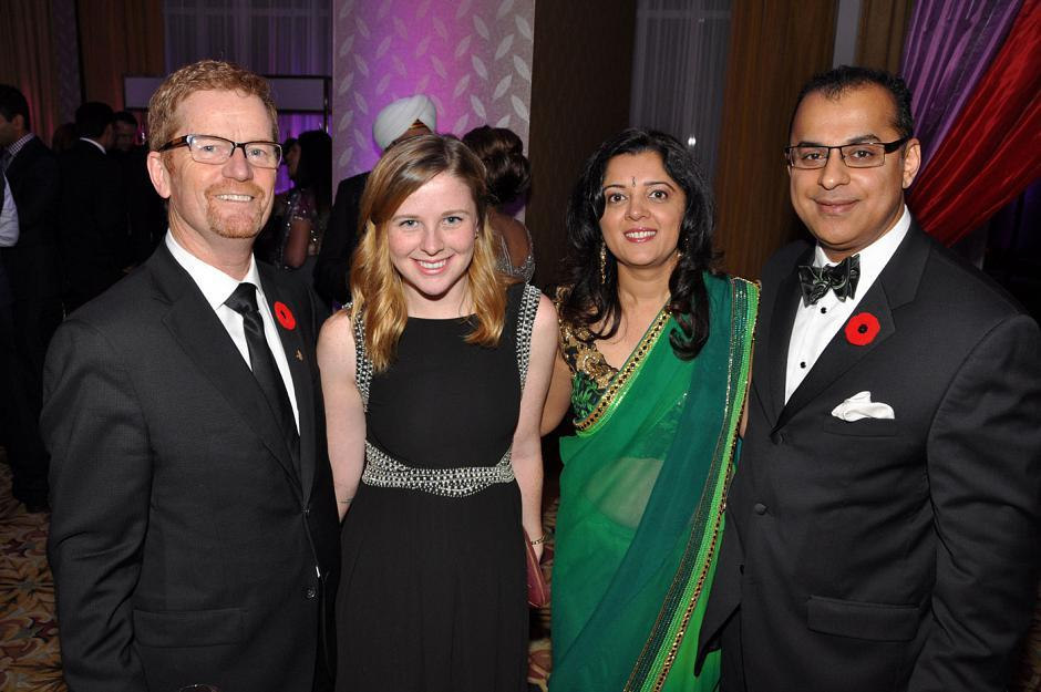 Terry Lake, B.C. Minister of Health; his daughter, Stephanie Lake; Rena Dhir; and Robin Dhir, event founding chair and Fasken Martineau strategic advisor.