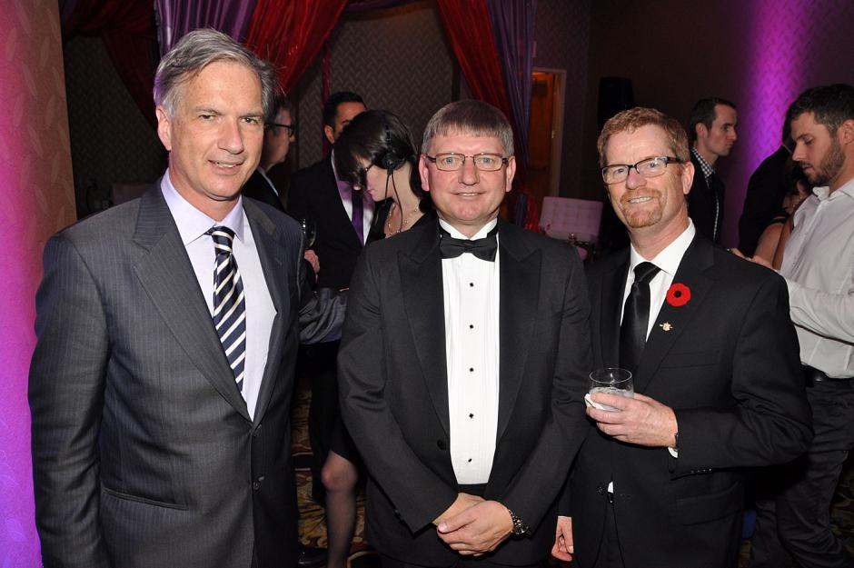 Kirk LaPointe, NPA mayoral candiate; William Westeringh, Fasken Martineau managing partner; and Terry Lake, Minister of Health.