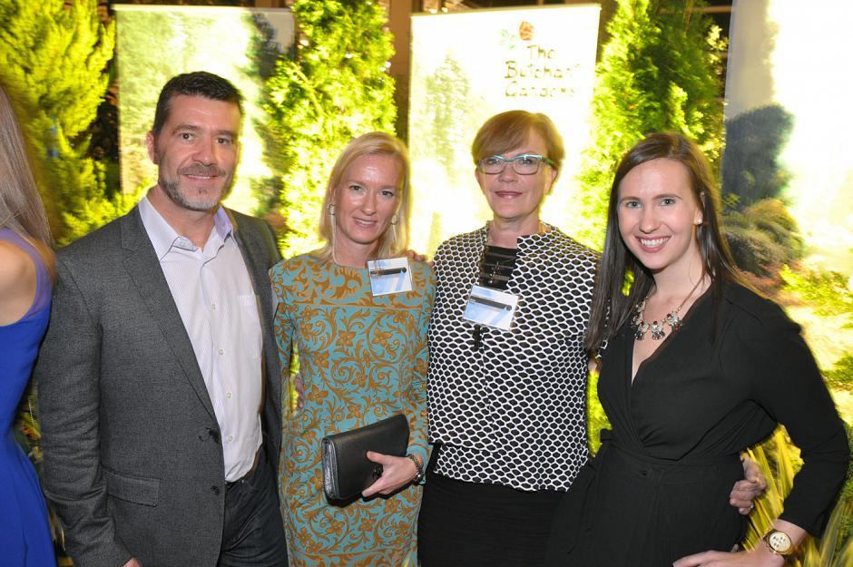 Steve Mossop, Insights West president; Sarah Finstad, BCAMA past president; Kim Mech, BCAMA president; and Katie Stevens, Talk Shop Media director of client services and MOY gala chair.