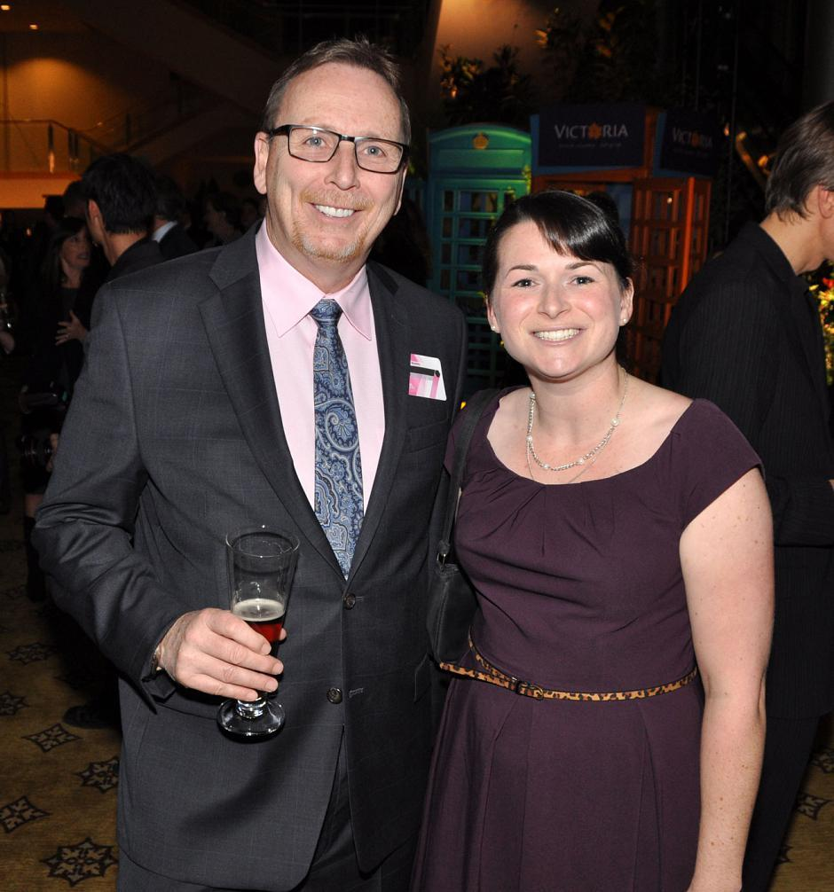 Jim Dodds, Red Truck Beer Co. GM; and Tessa Humphries, Tourism Victoria manager corporate communications.