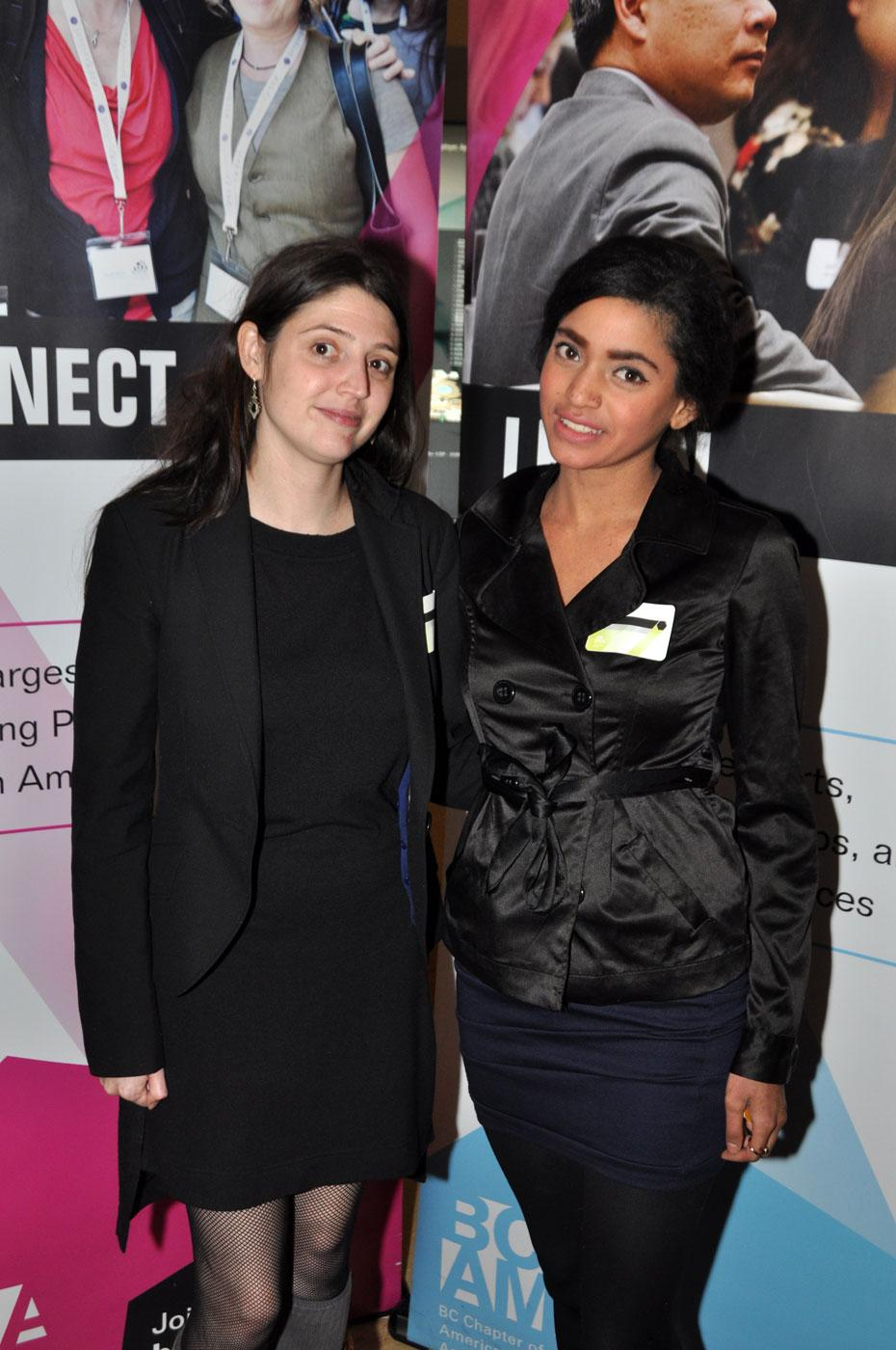 Ashleigh Withall, Boilingpoint Group marketing co-ordinator; and Shilpa Nayak, Skyrocket Digital business development.