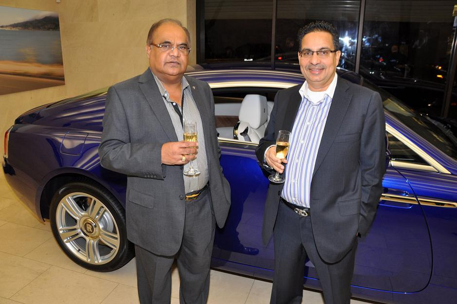 Peter Raju, Peace Arch Duty Free Shop president and Rakesh Dhir, Dhir Capital Investments principal.
