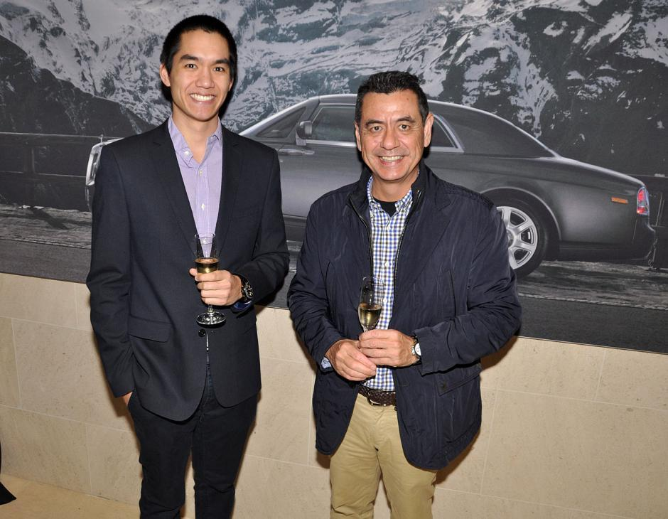 Christian Tjia and his father, Marcel Tjia, OpenRoad Auto Group director.