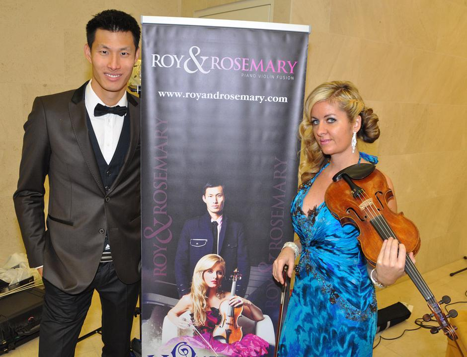 Roy Tan and Rosemary Siemens performed for guests as Roy and Rosemary violin/piano fusion.